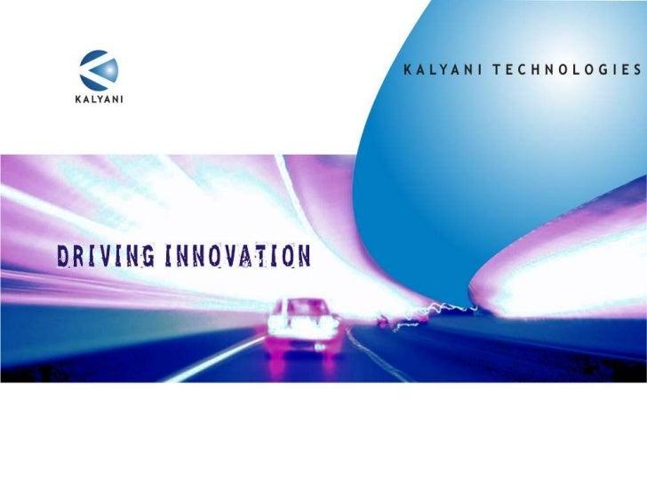 Kalyani technologies corporate presentation