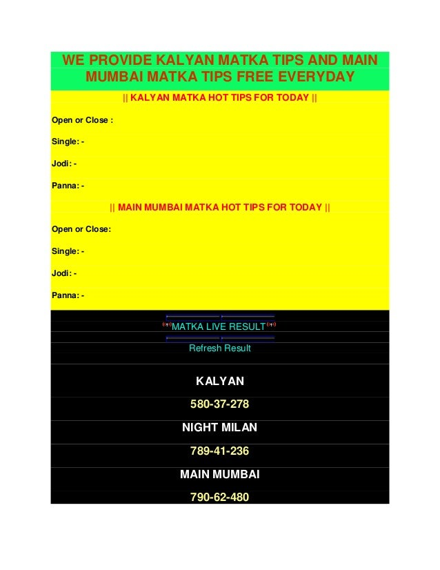 Kalyanmatka.in: matka tips and matka results for kalyan ...