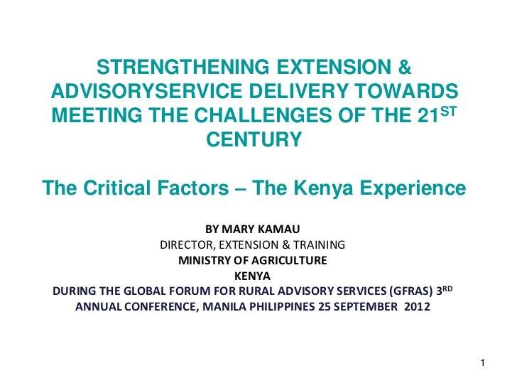 Kenya - Extension Policy Development