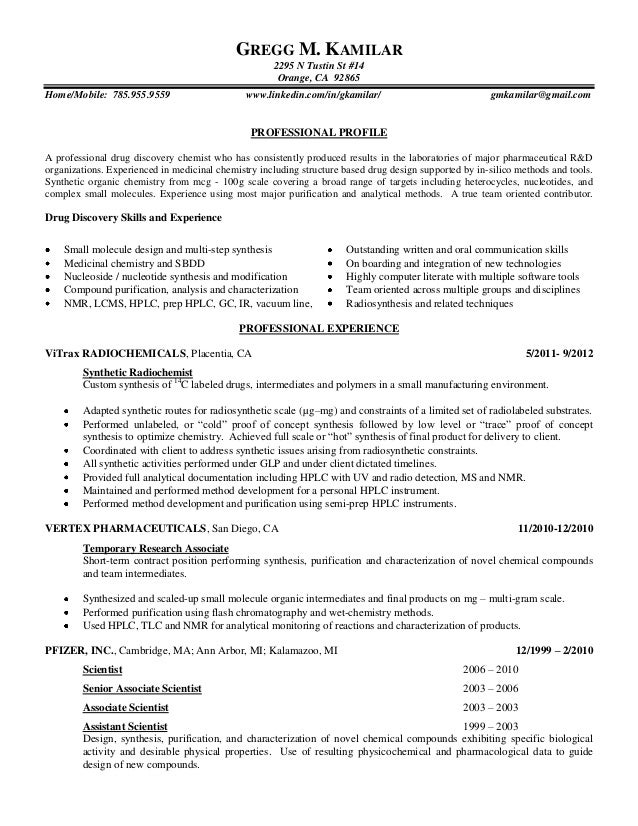 Validation Chemist Resume QAQC Resume Scribd Analytical