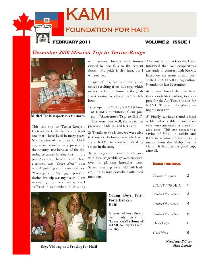 Kami newsletter 3 feb 2011
