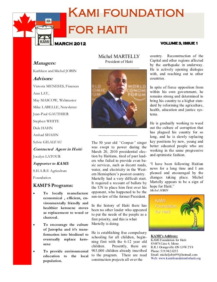 Kami newsletter 5 mar 2012