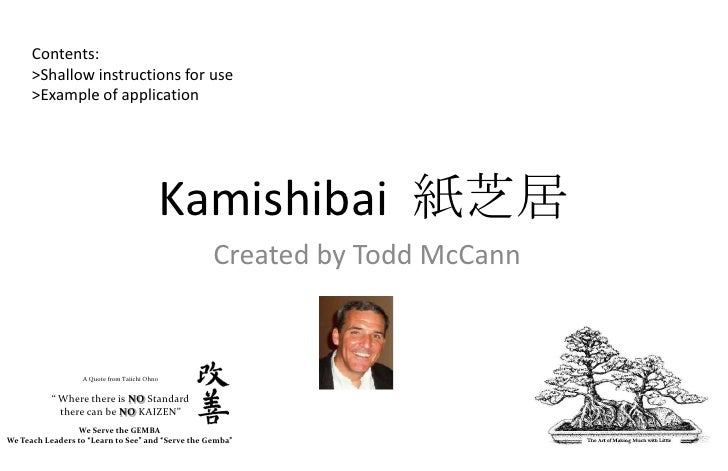 Kamishibai Process And General Training Instructions Created By Todd Mc Cann