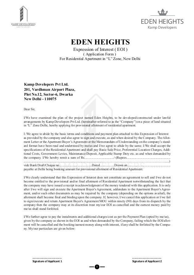 Kamp Developers Application Form : Affordable Housing Property In L Z…
