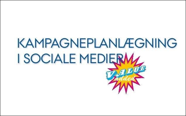 Kampagneplanlægning i sociale medier e13