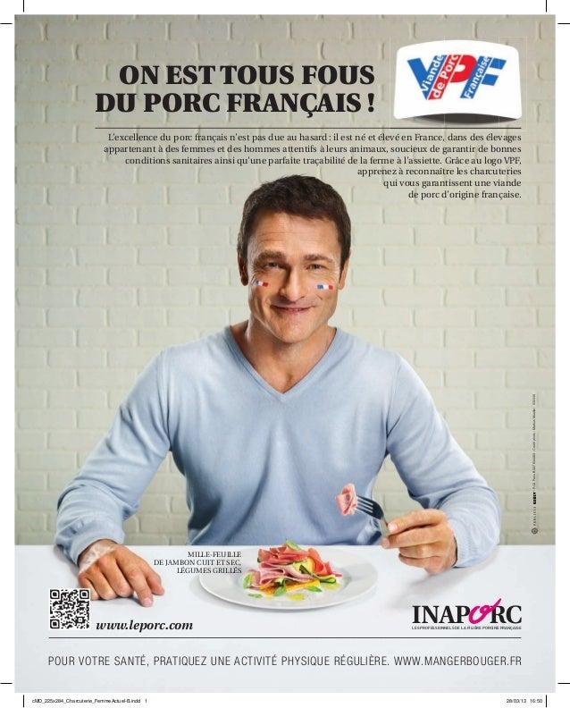MILLE-FEUILLEDE JAMBON CUIT ET SEC,LÉGUMES GRILLÉSL'excellence du porc français n'est pas due au hasard: il est né et élev...