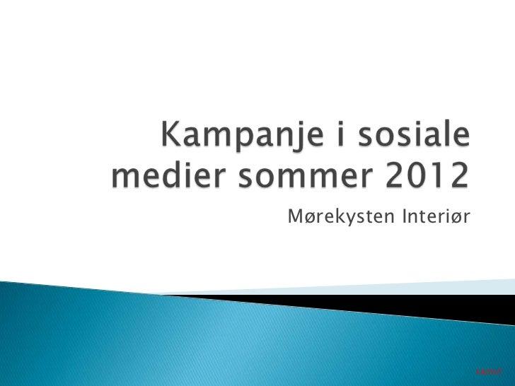 Kampanje for Mørekysten Interiør