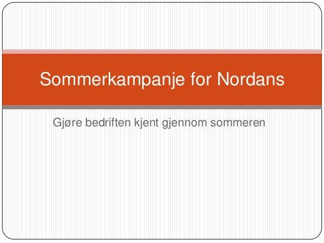 Kampanje for Nordans