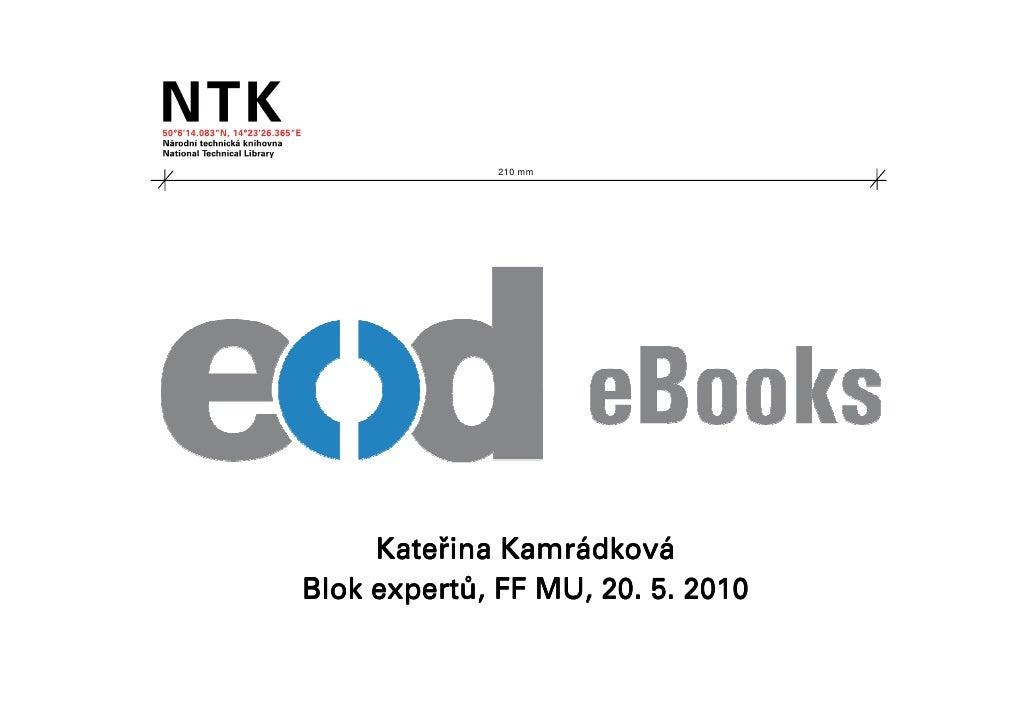 EOD - Blok expertů KISK FF MU