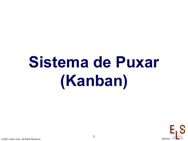 1 © 2001, Eaton Corp., All Rights Reserved 29/04/02 Sistema de Puxar (Kanban)