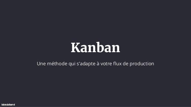 Kanban Une méthode qui s'adapte à votre flux de production