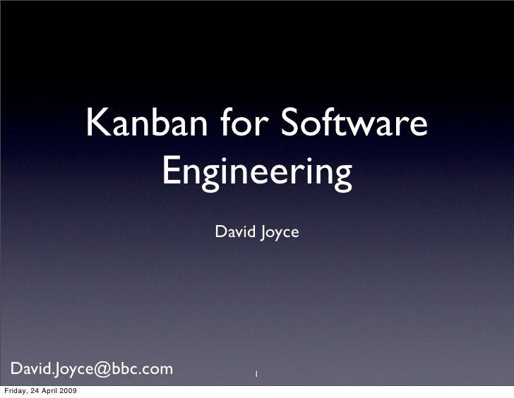 Kanban For Software Engineering Apr 242