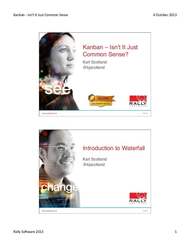 "Agileee 2013: Karl Scotland ""Kanban   isn't it just common sense"""
