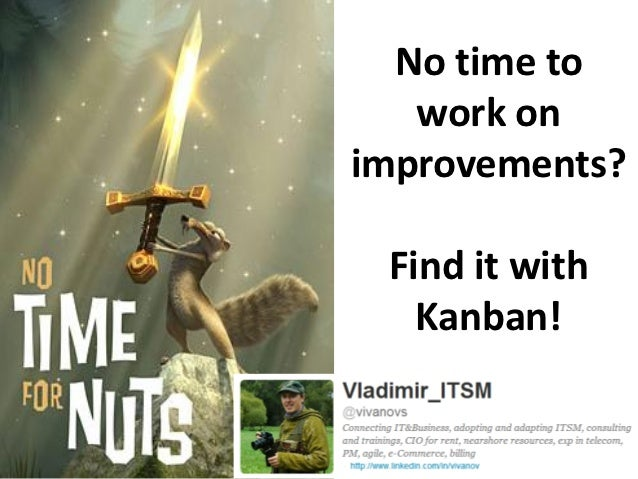 No time to   work onimprovements? Find it with   Kanban!