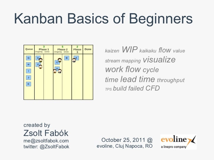 Kanban Basics of Beginners                           kaizen WIP kaikaku flow value                           stream mappin...