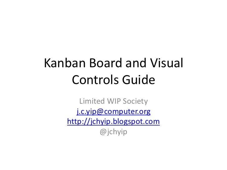 Kanban Board and Visual Controls Guide