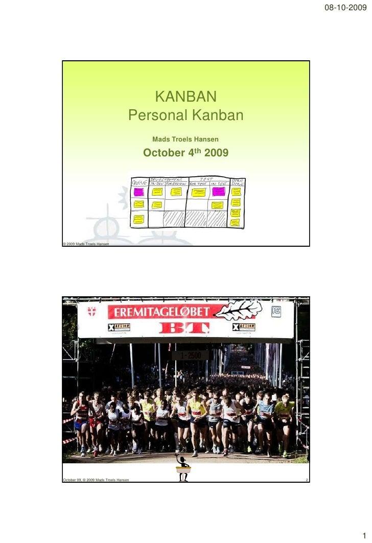 08-10-2009                                            KANBAN                                     Personal Kanban          ...