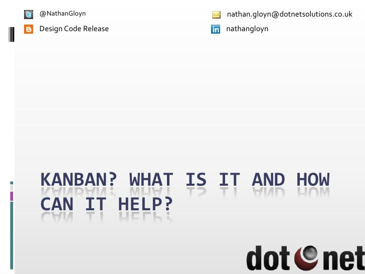 DDD North - Kanban what is it and how can it help