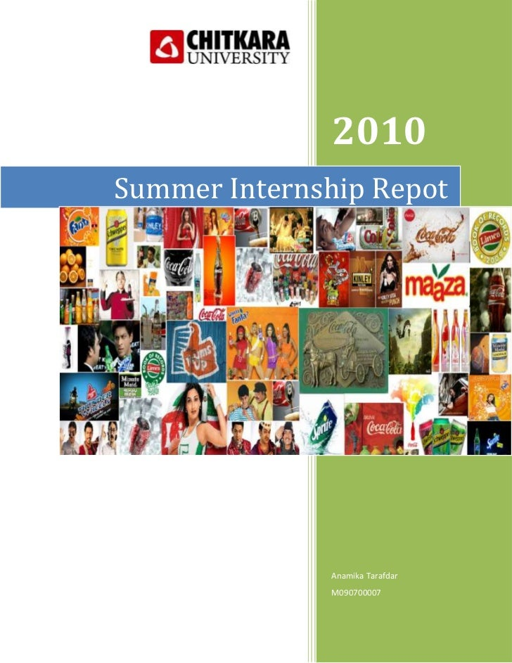 Summer Internship Repot2010Anamika TarafdarM0907000079048753143250<br />Kandhari Beverages Private Limited<br />An Interns...