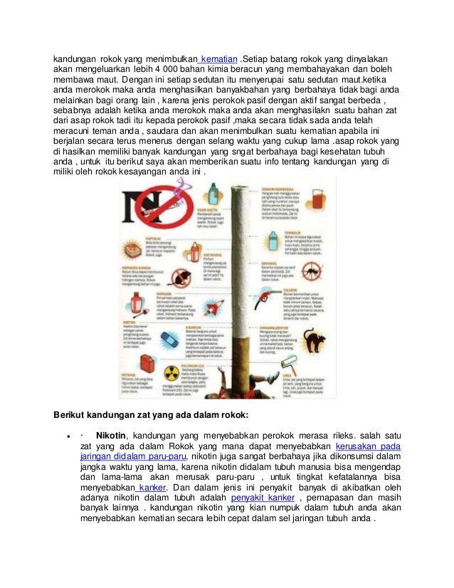 Kandungan Asap Rokok Kandungan Rokok
