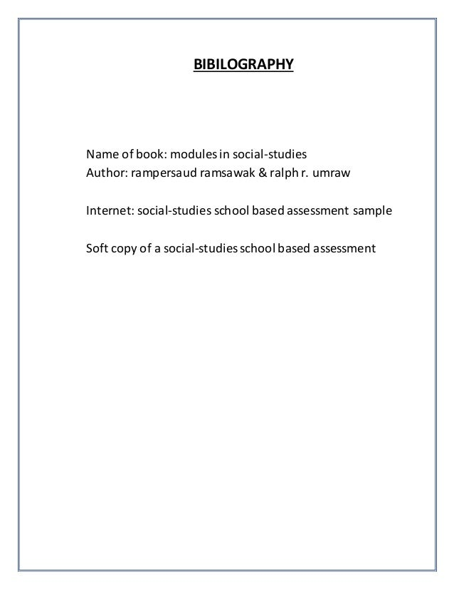 social studies sba sample This article shows a sample questionnaire with insert notes for every section.