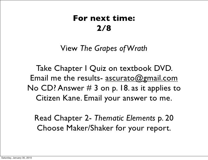 For next time:                                             2/8                                      View The Grapes of Wra...