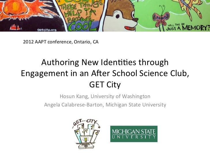2012 AAPT conference, Ontario, CA     Authoring New Iden00es through Engagement in an A5er Schoo...