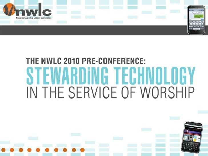 INTRODUCTION  Stewarding Technology in the     Service of Worship                                   1