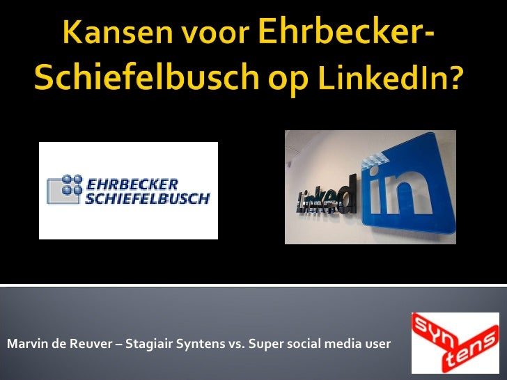 Marvin de Reuver – Stagiair Syntens vs. Super social media user