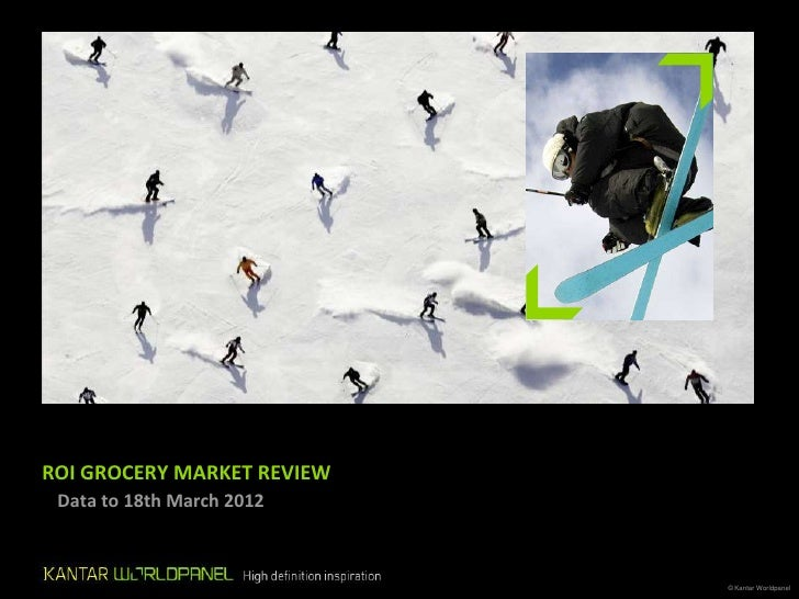 Kantar consumer research, March 2012