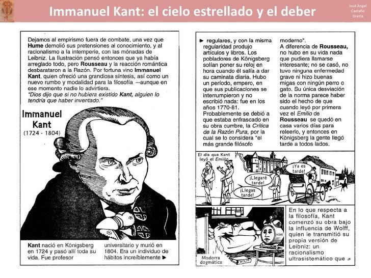 José Ángel  Immanuel Kant: el cielo estrellado y el deber    Castaño                                                   Gra...