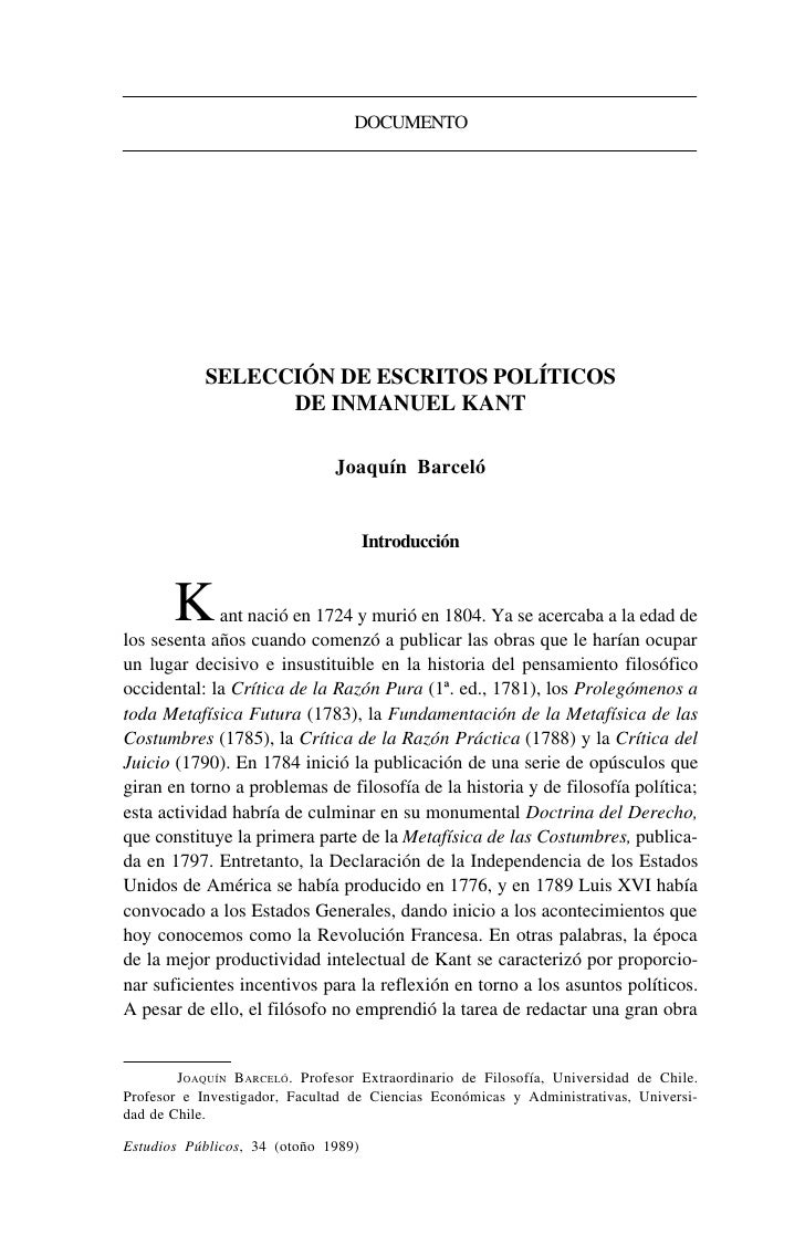Kant emmanuel   escritos politicos