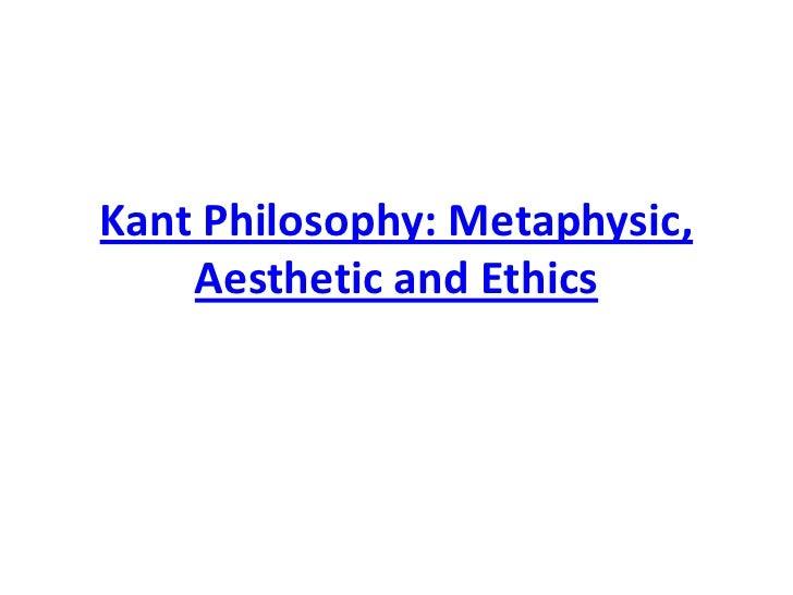 Kant philosophy