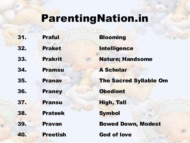 Kanya Rashi Baby Boy Names With Meanings