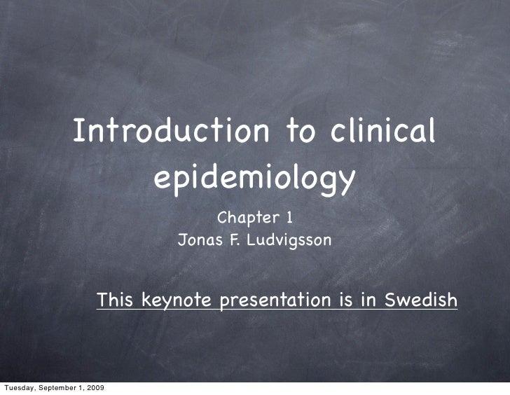 Kap1 Intro Epidemiology