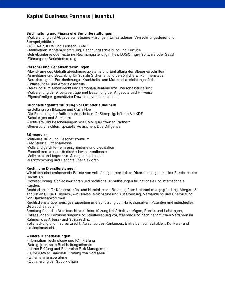 Über Kapital Business Partners - Deutsch