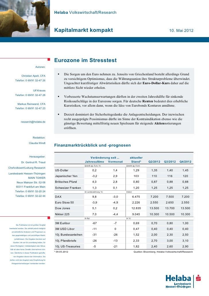 Helaba Volkswirtschaft/Research                                                   Kapitalmarkt kompakt                    ...