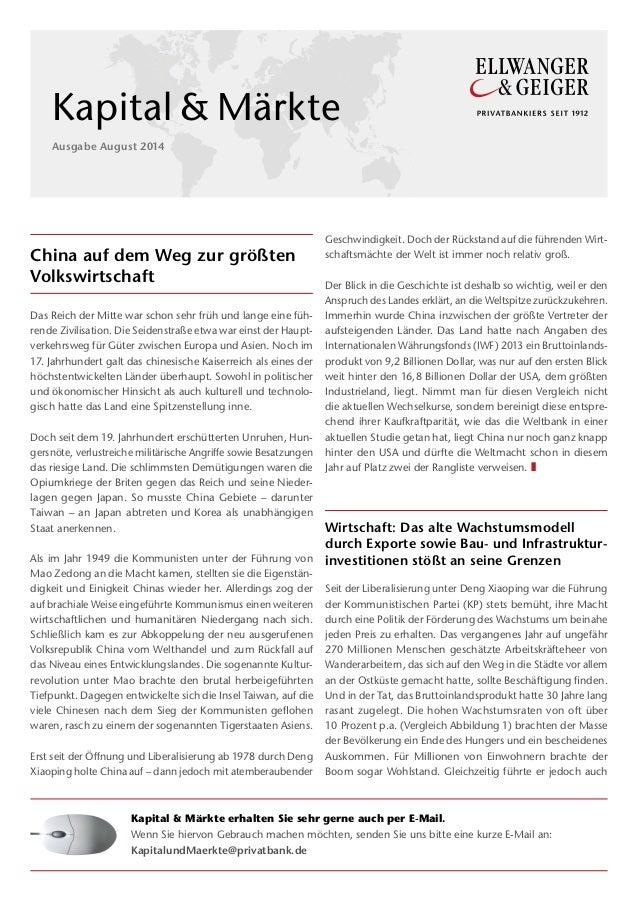 China auf dem Weg zur größten Volkswirtschaft Das Reich der Mitte war schon sehr früh und lange eine füh- rende Zivilisati...