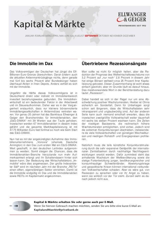 JANUAR FEBRUAR MÄRZ APRIL MAI JUNI JULI AUGUST SEPTEMBER OKTOBER NOVEMBER DEZEMBER Die Immobilie im Dax Das Volksvermögen ...