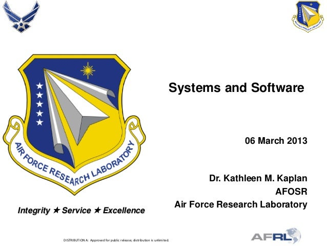 Kaplan - Systems and Software - Spring Review 2013