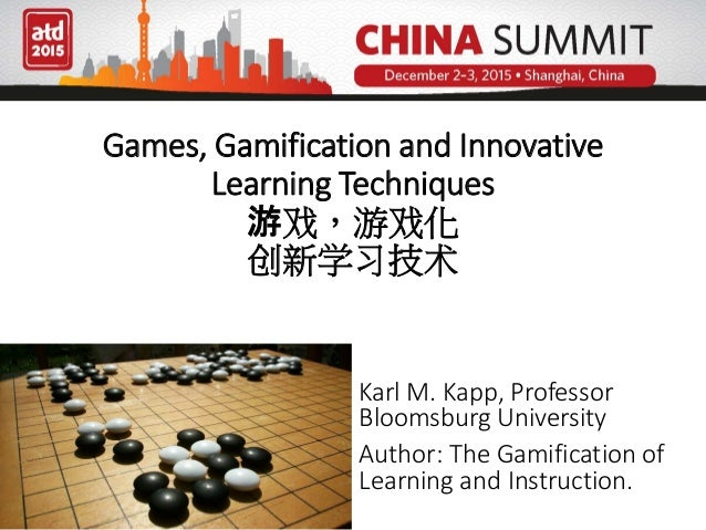Games, Gamification and Innovative Learning Techniques