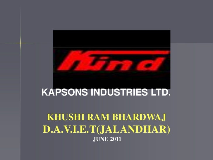 6 MONTHS INDUSTRIAL TRAINING PPT EE BY KHUSHI RAM BHARDWAJ(DAVIET JALANDHAR)