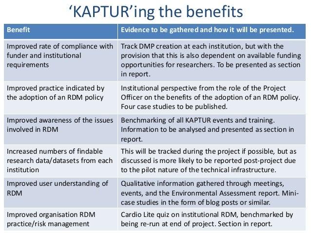 Kaptur'ing the benefits