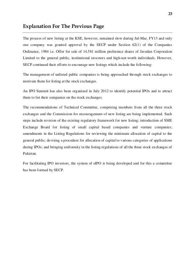 essay on karachi stock exchange