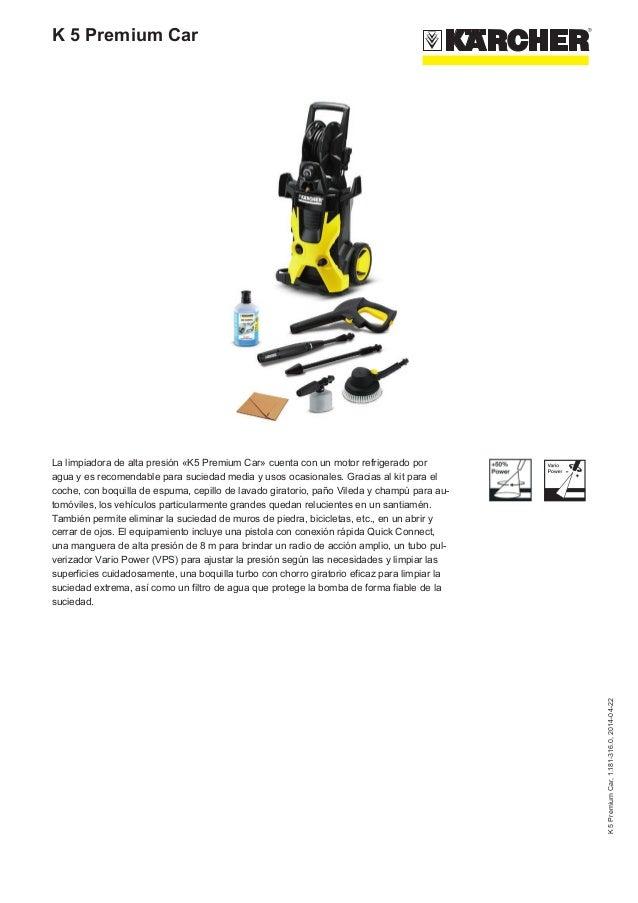 Hidrolimpiadora Karcher k 5 Premium Car