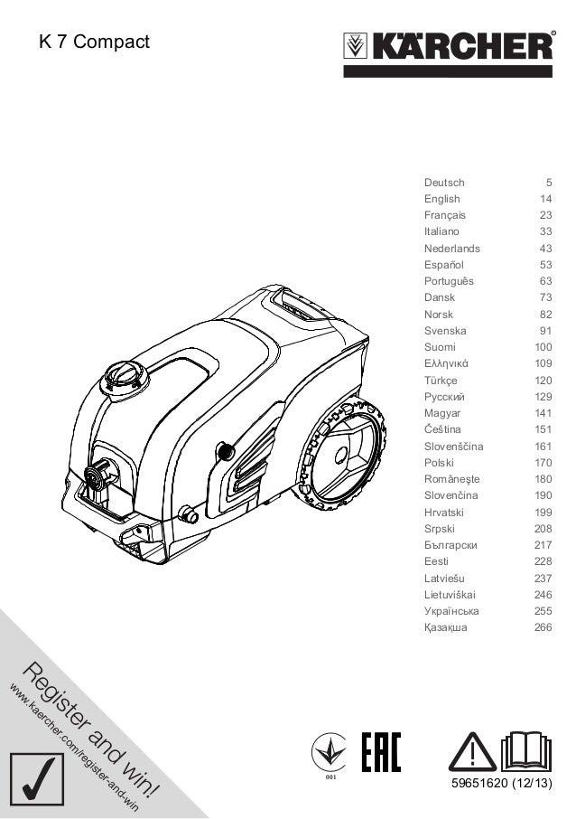 www.kaercher.com/register-and-win  001 59651620 (12/13)  K 7 Compact  Deutsch 5  English 14  Français 23  Italiano 33  Ned...