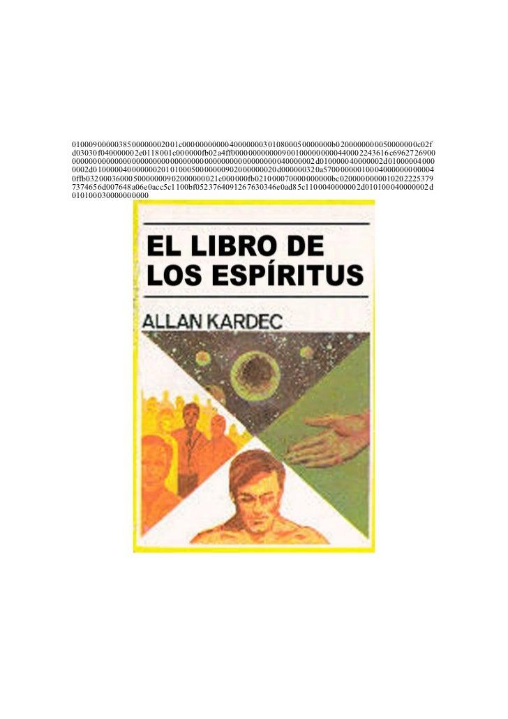 KARDEC ALLAN   El Libro de los Espiritus