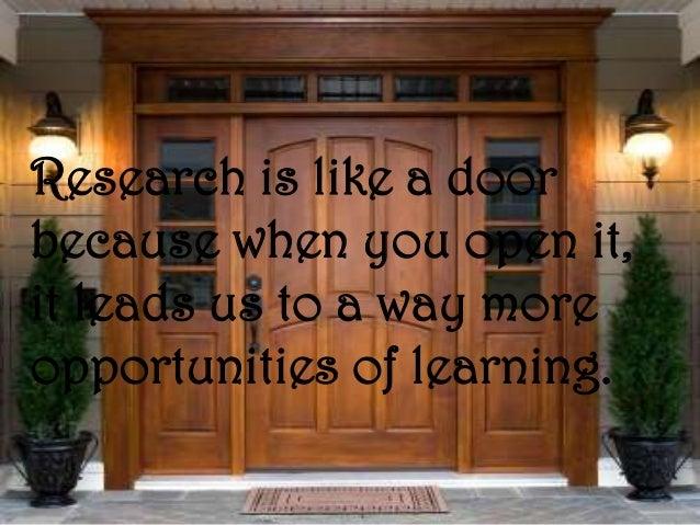 Karen's Metaphor of Research