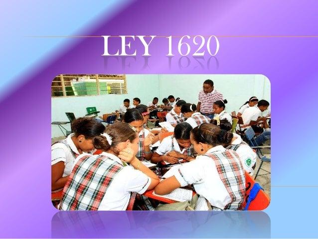 LEY ESTUDIANTIL 1620