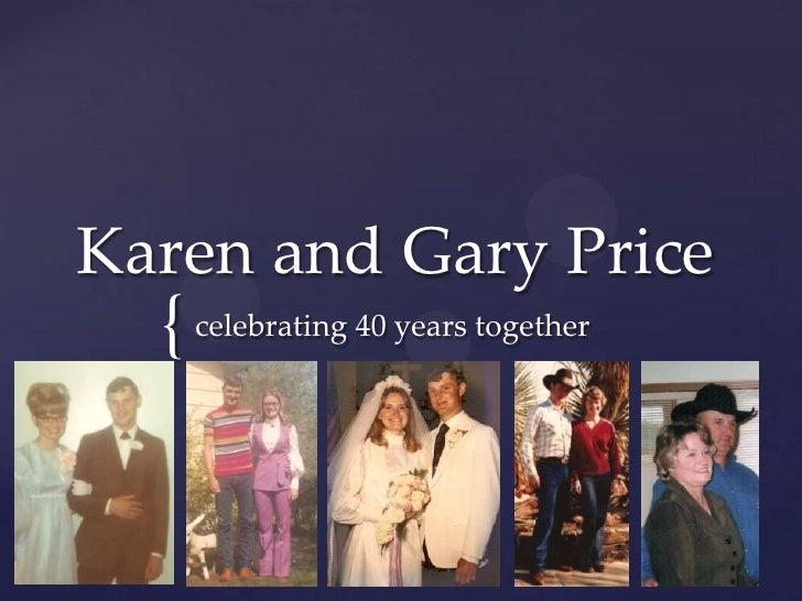 Karen and Gary Price  { celebrating 40 years together